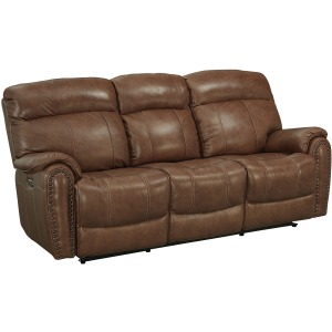 Bridgeport Motion Sofa w/Power - Umber