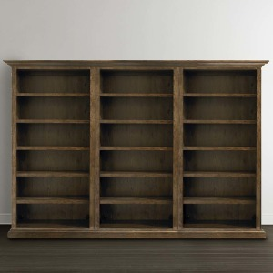 Compass Tall Triple Open Bookcase