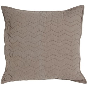 Bed Basics Euro Chevron Taupe