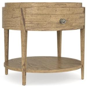 Woodridge Round End Table - Sierra Brown