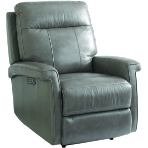 Matthews Leather Power Recliner in Indigo