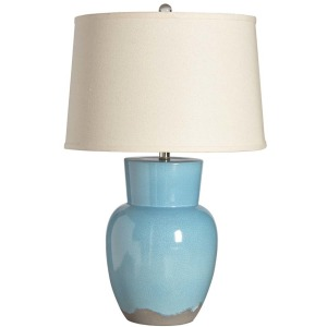 Berman Table Lamp Teal Crackle