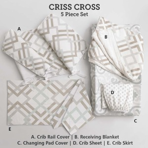 Baby & Kids Top of Bed Criss Cross 5 pc set