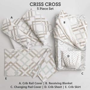 Baby & Kids Top of Bed Criss Cross 5 pc set