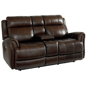 Marquee Motion Loveseat w/Console w/Power - Umber