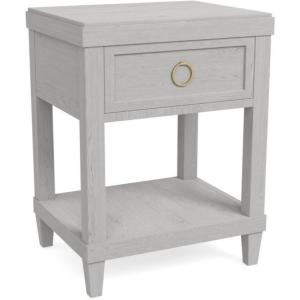 Ventura Bedside Table - Shell White
