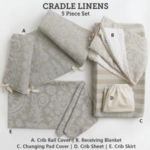 Baby & Kids Top of Bed Cradle Linens 5 pc set