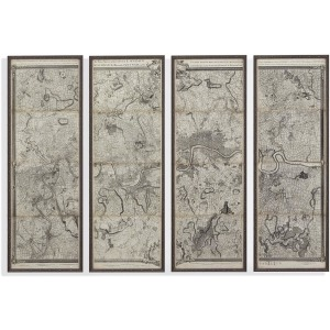 Map of London Panels Set of 4