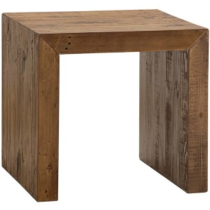 Salvaged Timber Square End Table