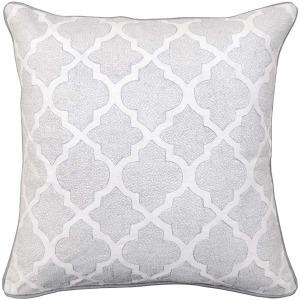 Aversa White Silver Pillow