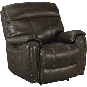 Bridgeport Wallsaver Recliner w/Power - Umber