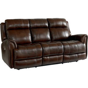 CHOCOLATE LEATHER POWER SOFA