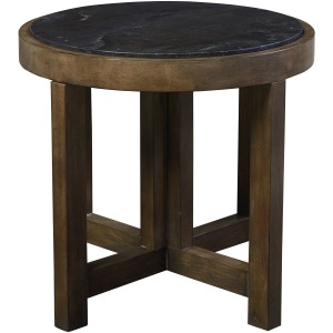 Compass Round Lamp Table - Northern Grey