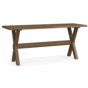 "Bench*Made Maple Crossbuck 70"" Live Edge Desk"