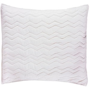 Bed Basics Euro Chevron Ivory