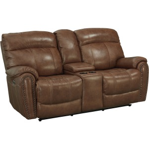 Bridgeport Motion Loveseat w/Power - Umber