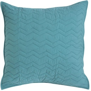 Bed Basics Euro Chevron Teal