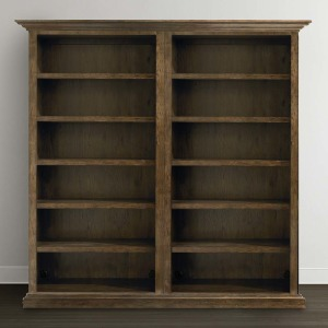 Compass Tall Double Open Bookcase