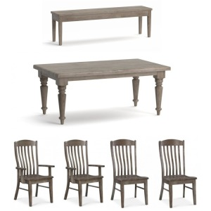 Bench Made 6 PC Farmhouse Maple Dining Set