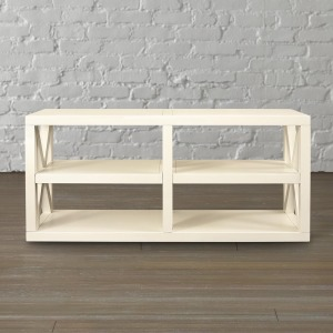 AXIS WHITE CONSOLE TABLE
