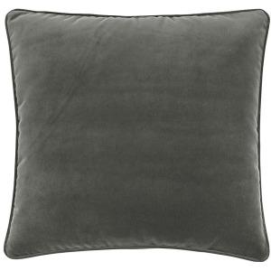 Bed Sol Velvt Charcoal Eur Shm