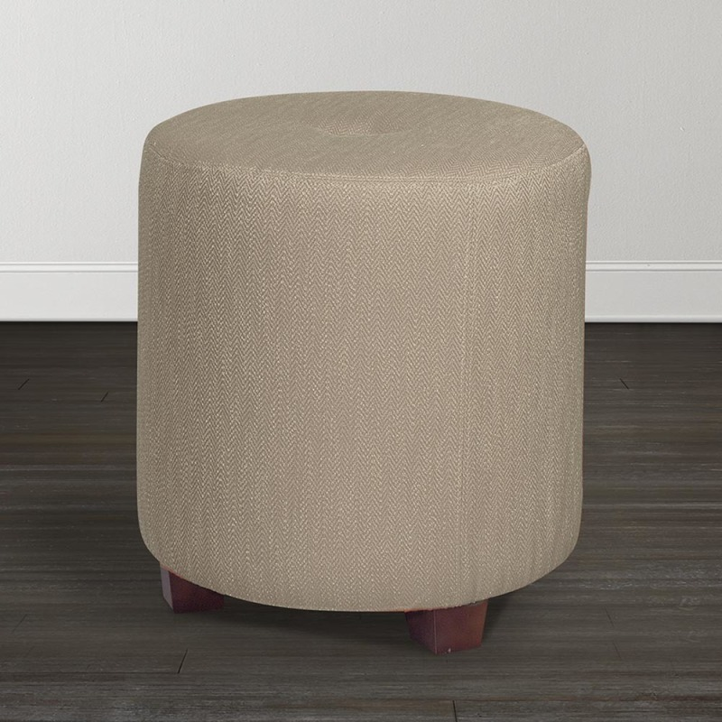 Amazing Riley Drum Ottoman By Bassett 1268 Ro Pierce Furniture Ncnpc Chair Design For Home Ncnpcorg