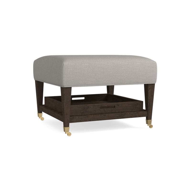 Phenomenal Ottoman Cocktails Kara Ottoman W Tray By Bassett 1510 2525 Gmtry Best Dining Table And Chair Ideas Images Gmtryco