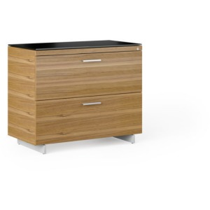 Sequel 20 Lateral File Cabinet - Natural Walnut / Black