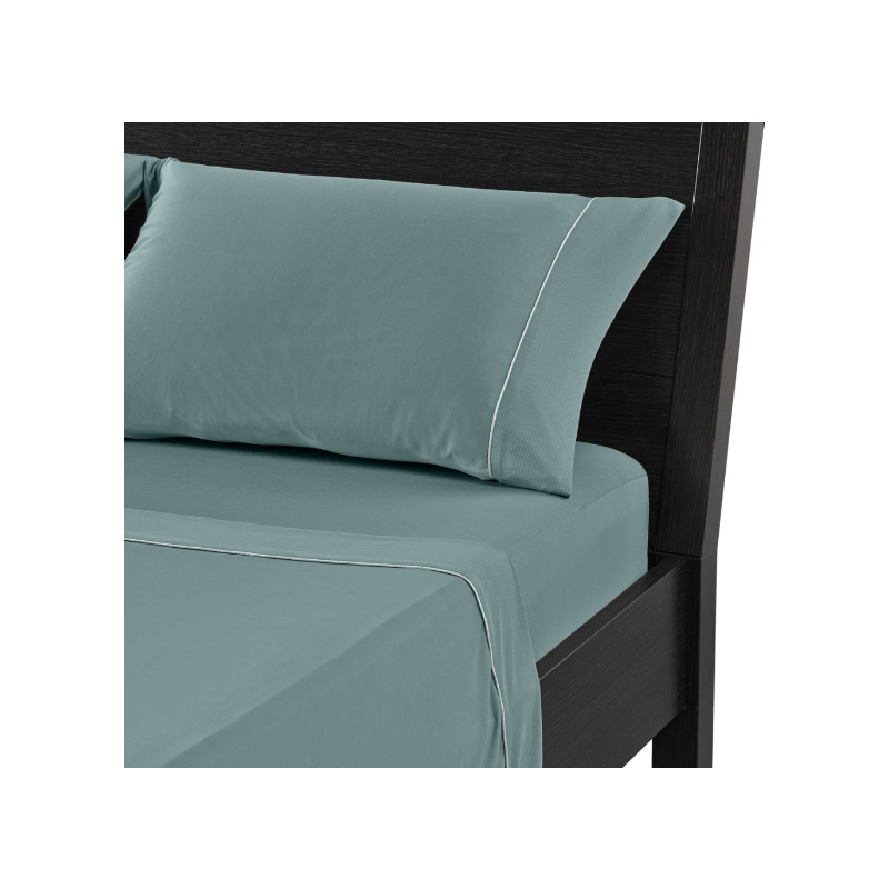 DRI-TEC SHEET SET IN AQUA BLUE IN SPLIT CAL KING