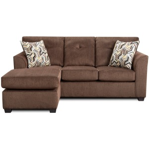 Sofa Chaise  - Kelly Chocolate