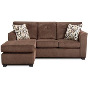 Sofa Chaise  - Kelly Chocolate