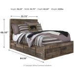 Derekson Full Panel Bed with 6 Storage Drawers