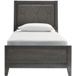 Delmar Twin Upholstered Panel Bed