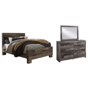 QUEEN BED,DRESSER,MIRROR