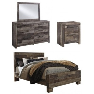 Derekson 4 PC Queen Panel Bedroom Set