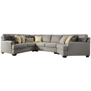 Cresson 4-Piece Sectional with Cuddler