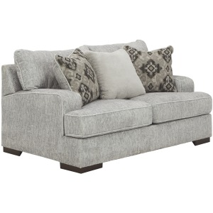 MERCADO PEWTER LOVESEAT
