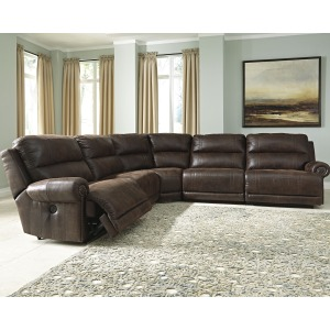 Luttrell 5-Piece Reclining Sectional with Power