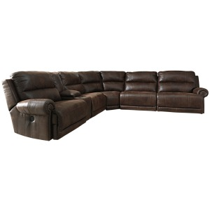 Luttrell 6-Piece Reclining Sectional with Power