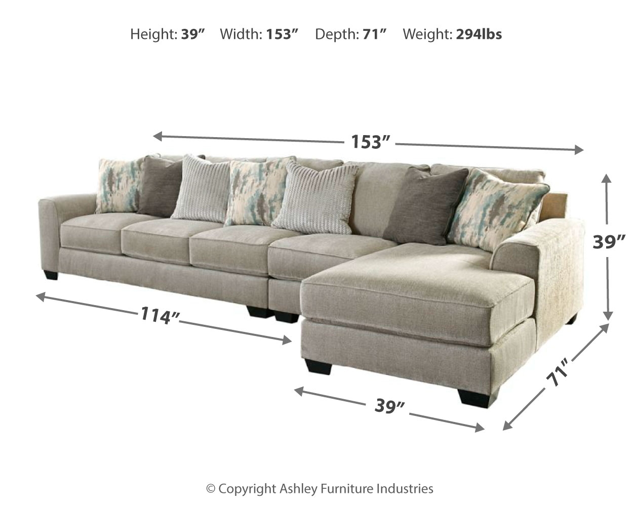 Ardsley 3-Piece Sectional with Chaise by Benchcraft ...