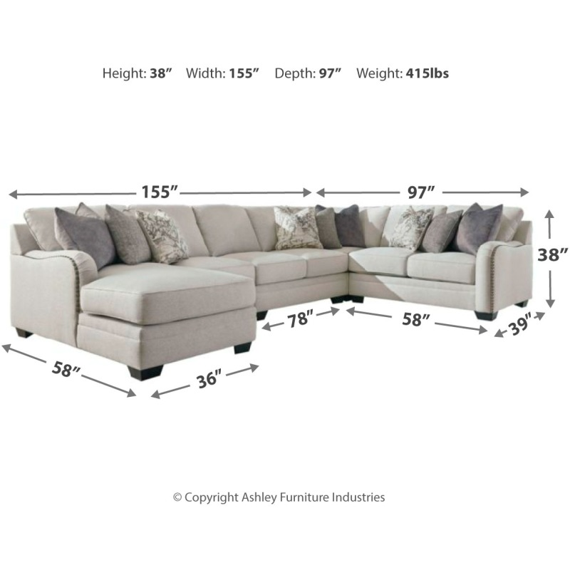 Dellara 5-Piece Sectional with Chaise by Benchcraft ...