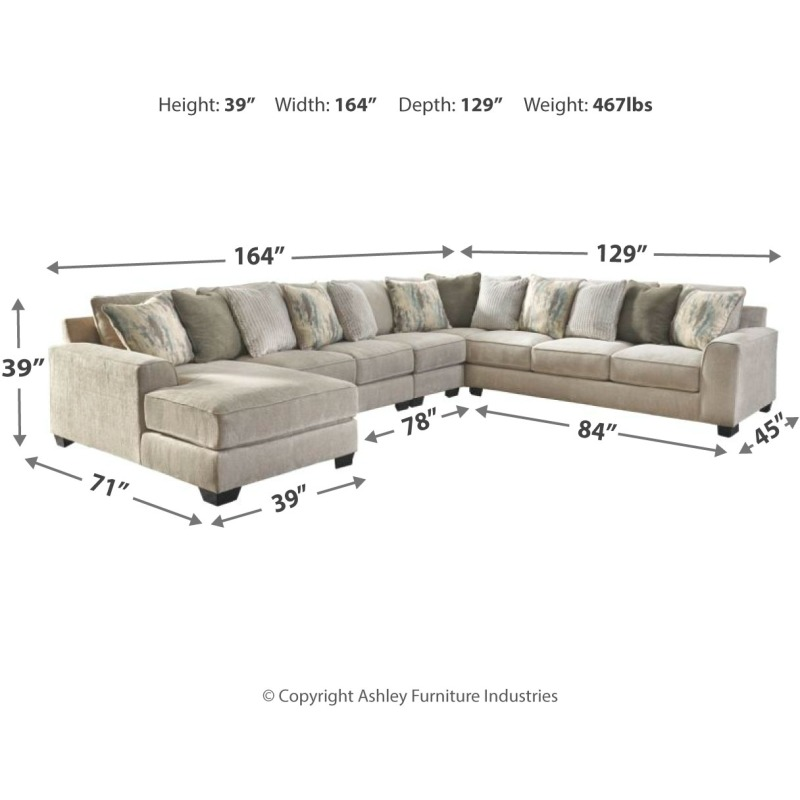 Cool Ardsley 5 Piece Sectional With Chaise 39504S7 Michael Ibusinesslaw Wood Chair Design Ideas Ibusinesslaworg