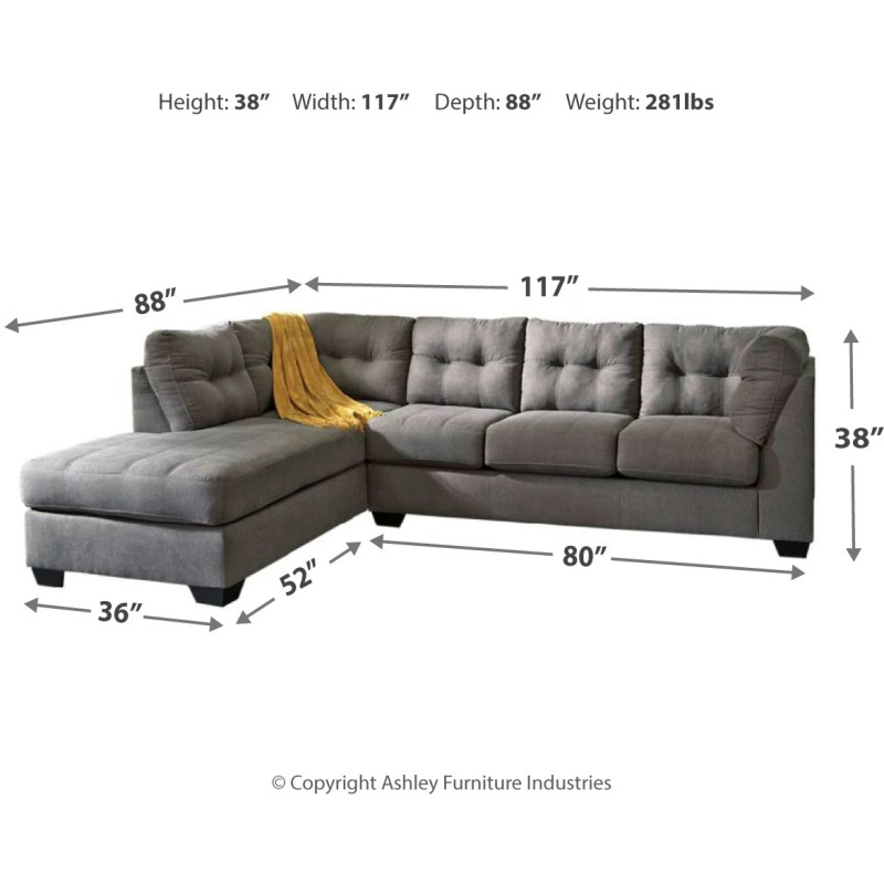 Sensational Maier 2 Piece Sectional With Chaise And Sleeper Uwap Interior Chair Design Uwaporg