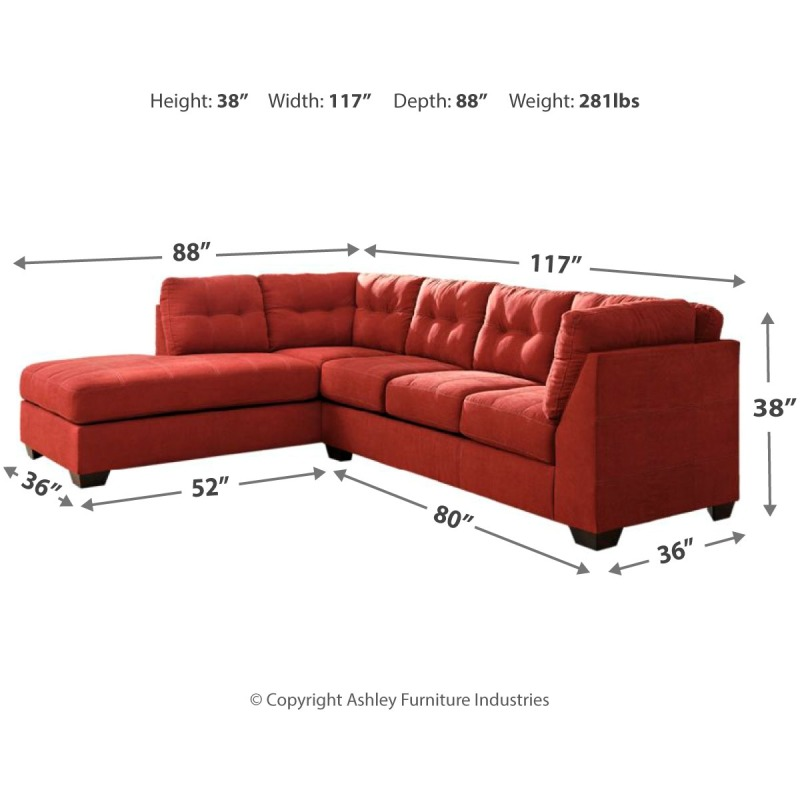 Phenomenal Maier 2 Piece Sectional With Chaise And Sleeper By Machost Co Dining Chair Design Ideas Machostcouk