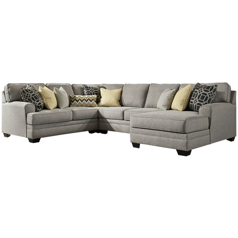 Swell Cresson 4 Piece Sectional With Chaise By Benchcraft Squirreltailoven Fun Painted Chair Ideas Images Squirreltailovenorg