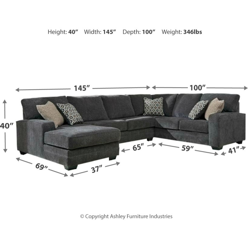 Tracling 3-Piece Sectional with Chaise