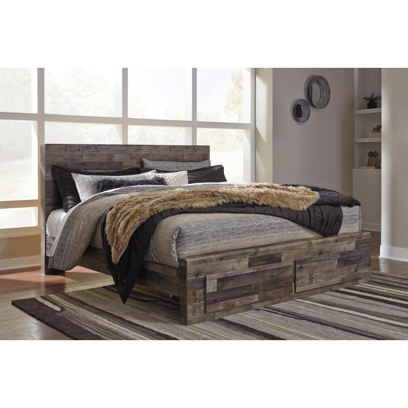 Derekson King Panel Bed with Storage