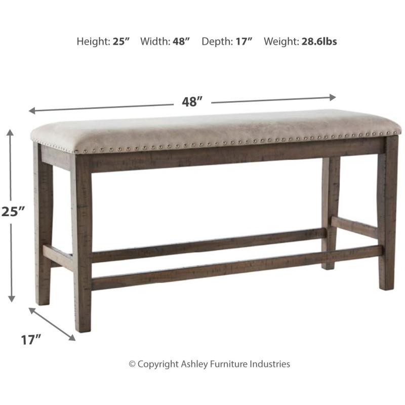 Johurst Counter Height Dining Room Bench