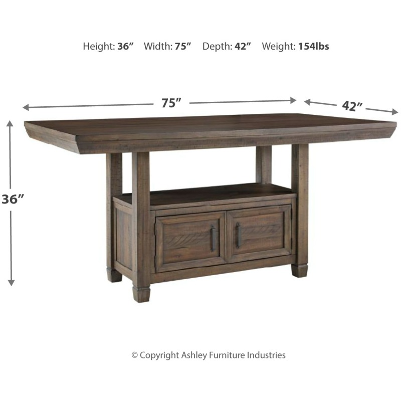 Johurst Counter Height Dining Room Table