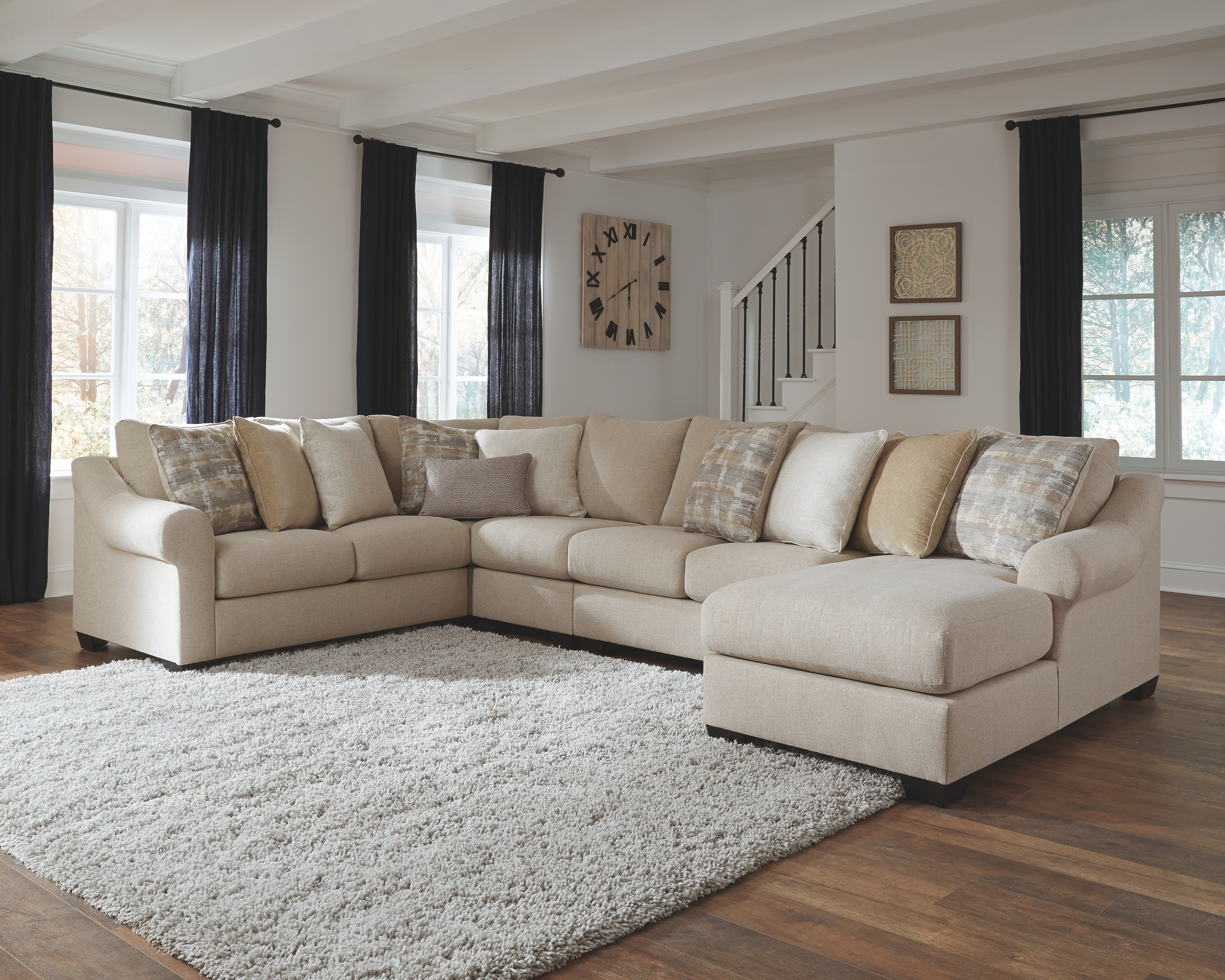 Ingleside 5 Piece Sectional With Chaise By Benchcraft The Furniture Mall